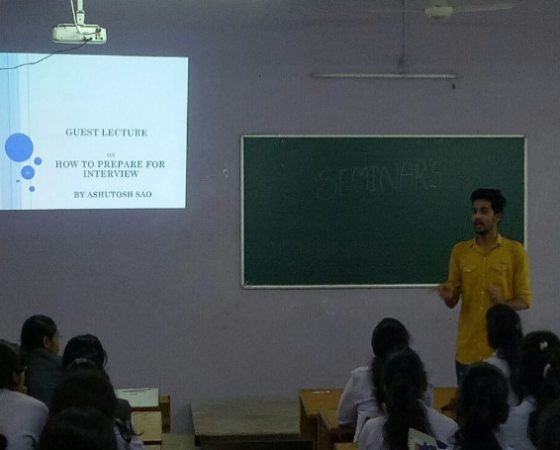 "Guest lecture on ""How to prepare Interview"" delivered by alumina"