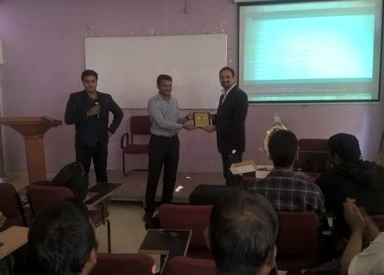 "Workshop on ""Embedded Systems & Internet of Things by Mr. Vikram Sarurkar"
